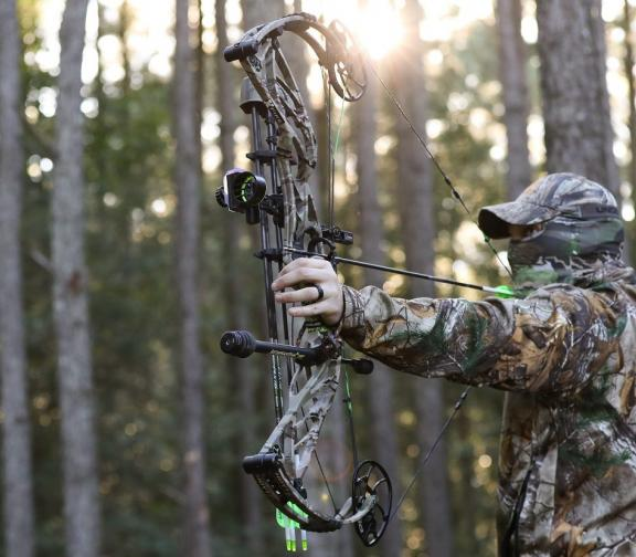 Person in Camo Bow Hunting